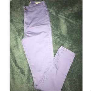 Lavender High Wasted Skinny Jeans